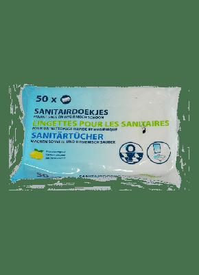 wibrazakelijk.nl Sanitairdoekjes, 50 stuks per verpakking